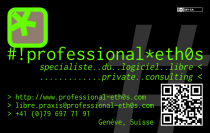 Business card -- verso -- phosphor